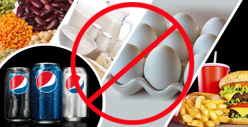 worst foods for Pre-Workout