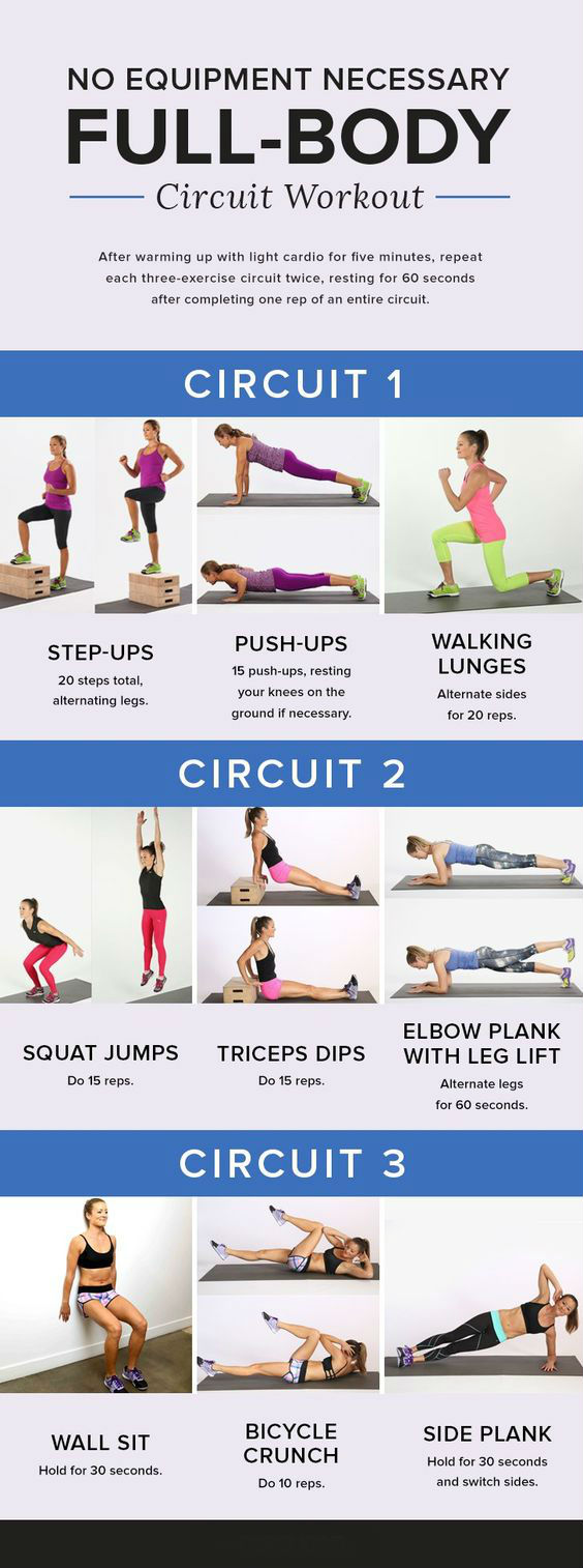 No Equipment Necessary Full Body Circuit Workout