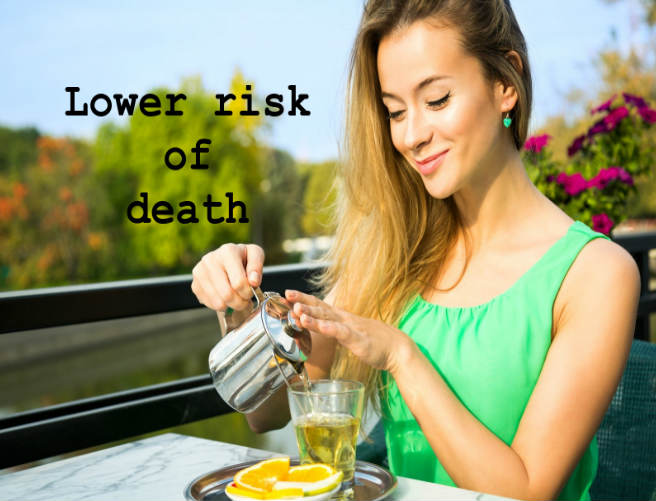 green tea lower risk of death